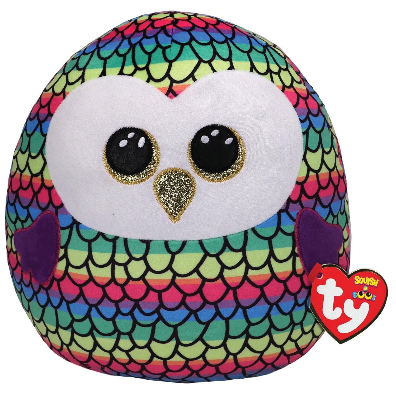 Beanie Boos Squish-a-Boo - Owen the Multicolour Owl