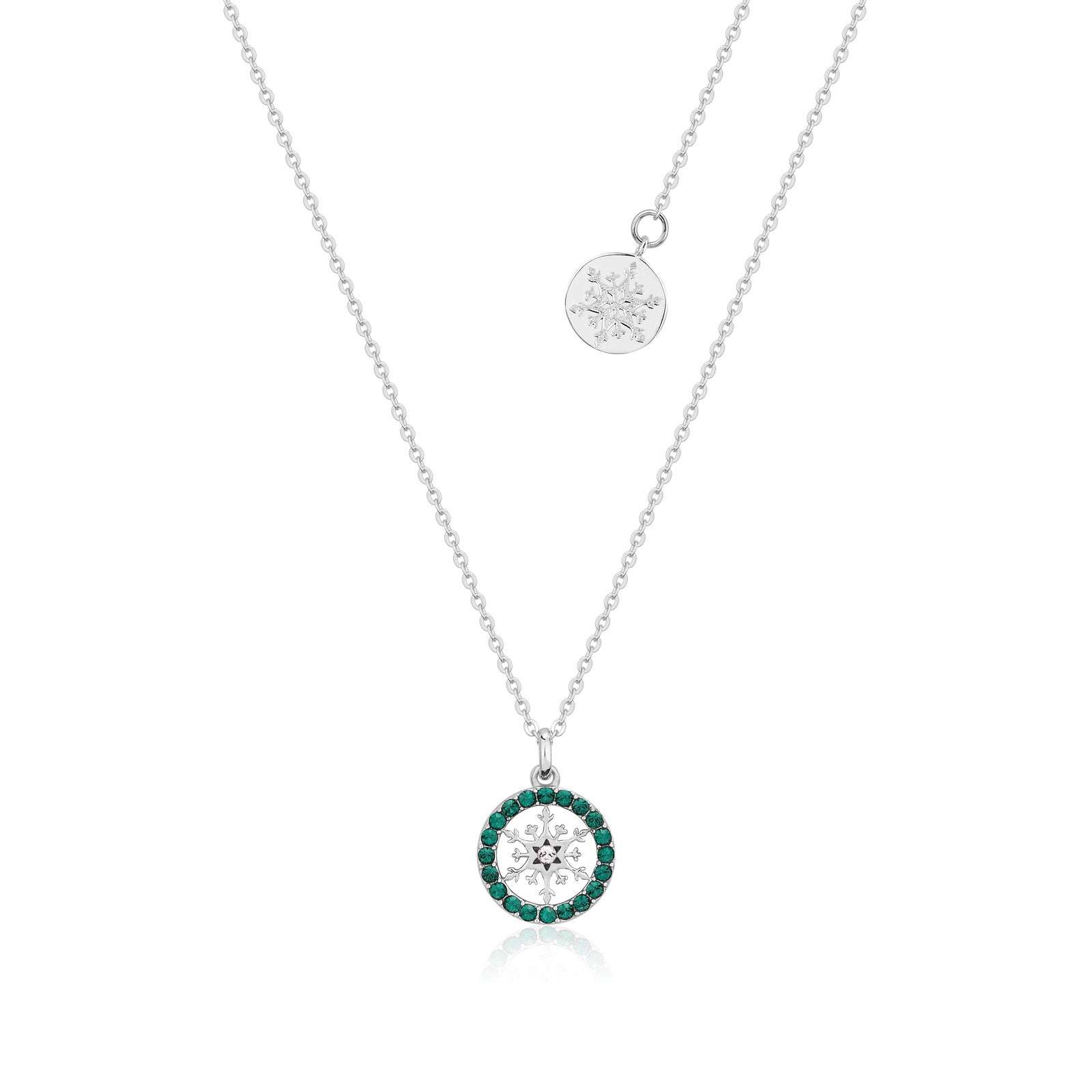 Disney Couture Kingdom - Frozen 2 - May Birthstone Snowflake Necklace