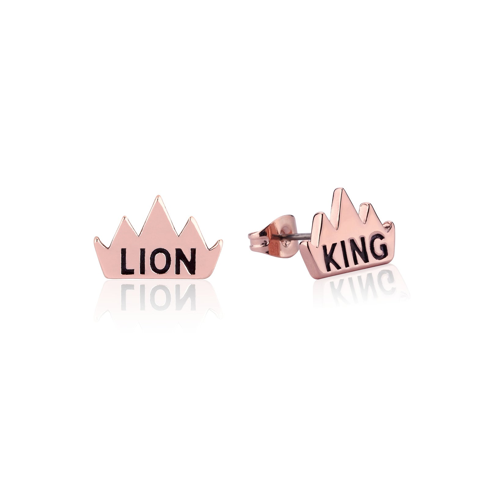 Disney Couture Kingdom - The Lion King - Crown Stud Earrings Rose Gold