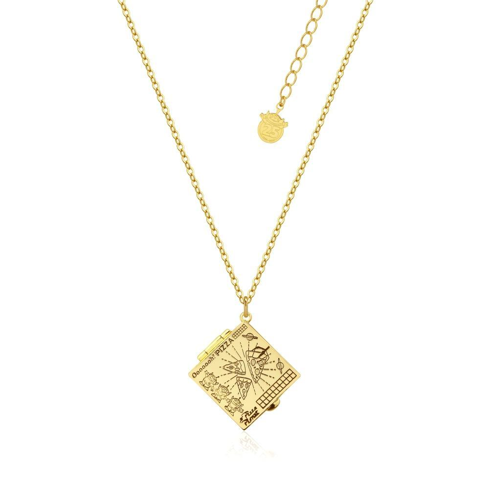 Disney Couture Kingdom - Toy Story - Pizza Planet Box Necklace Yellow Gold