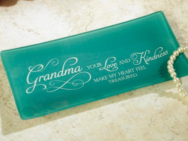 Glass Trinket Tray - Grandma