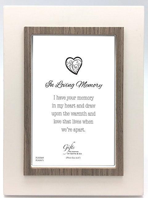 In Loving Memory Frame - White