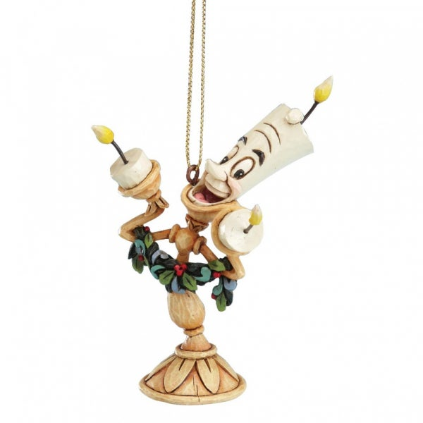 Jim Shore Disney Traditions - Beauty & the Beast - Lumiere Hanging Ornament