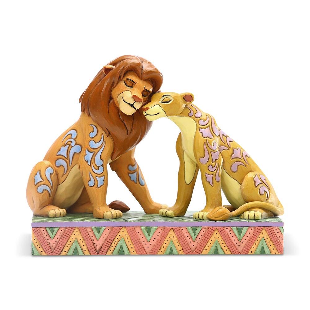Jim Shore Disney Traditions - The Lion King Simba & Nala Snuggling - Savannah Sweethearts