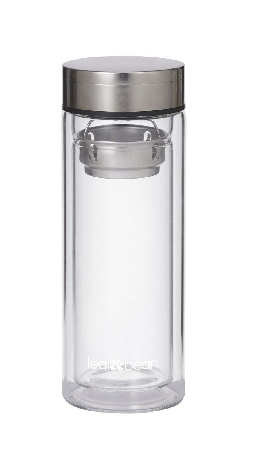Leaf + Bean Glass Tea Infuser Flask 300ml