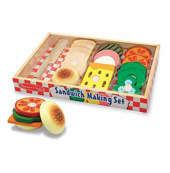 Melissa & Doug Kitchen Play - Sandwich Making Set 17 Pieces