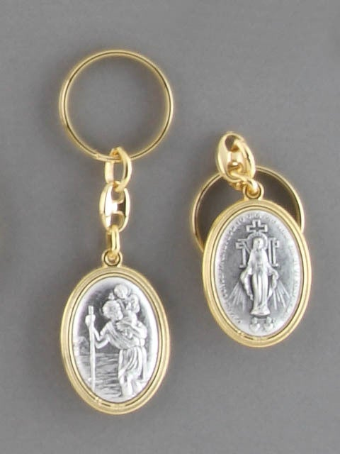 St Christopher/Miraculous Keyring
