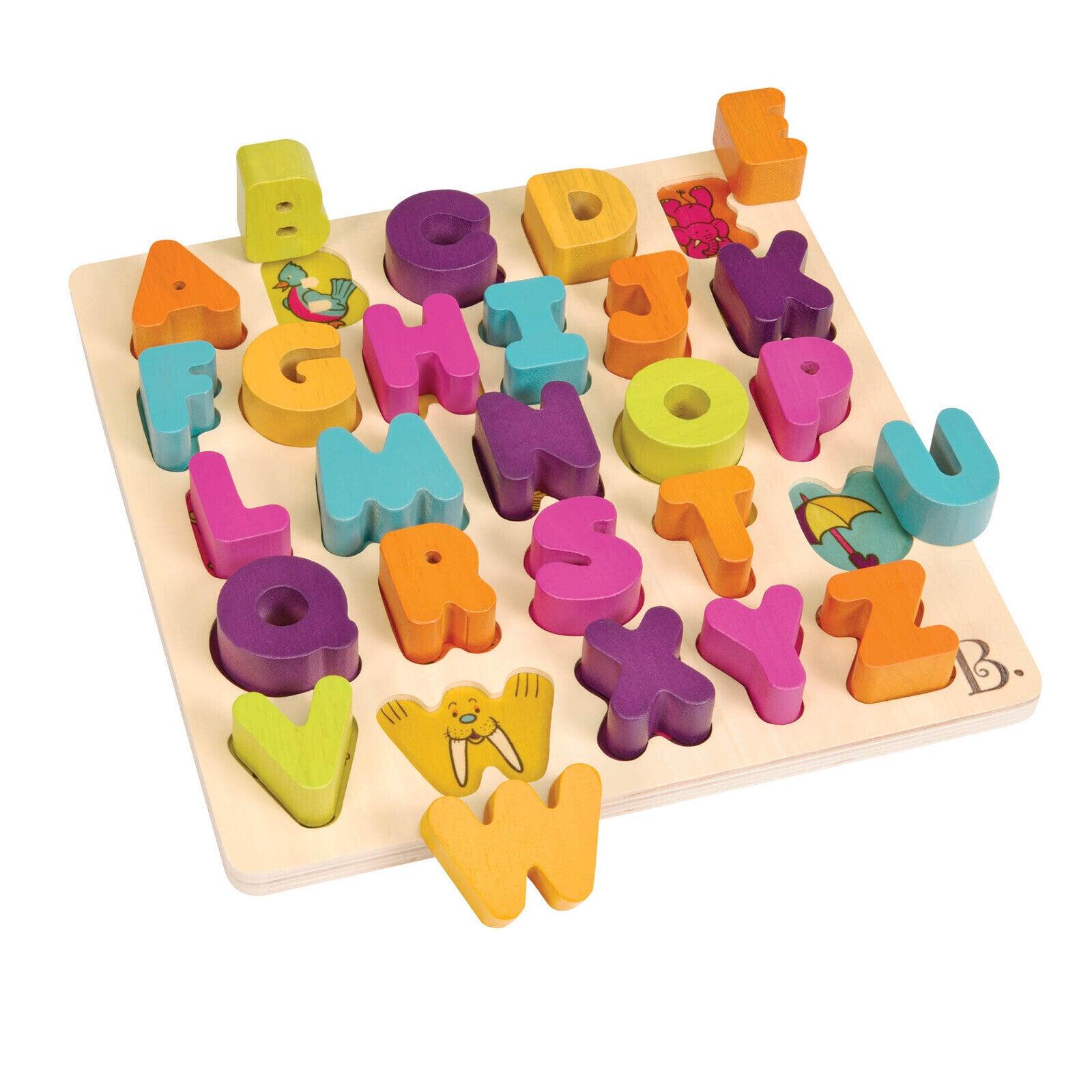B. Toys - Alpha B Tical Wooden Alphabet Puzzle
