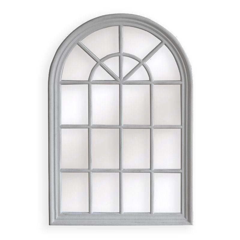 Arch White Window Hampton Mirror 100x150cm