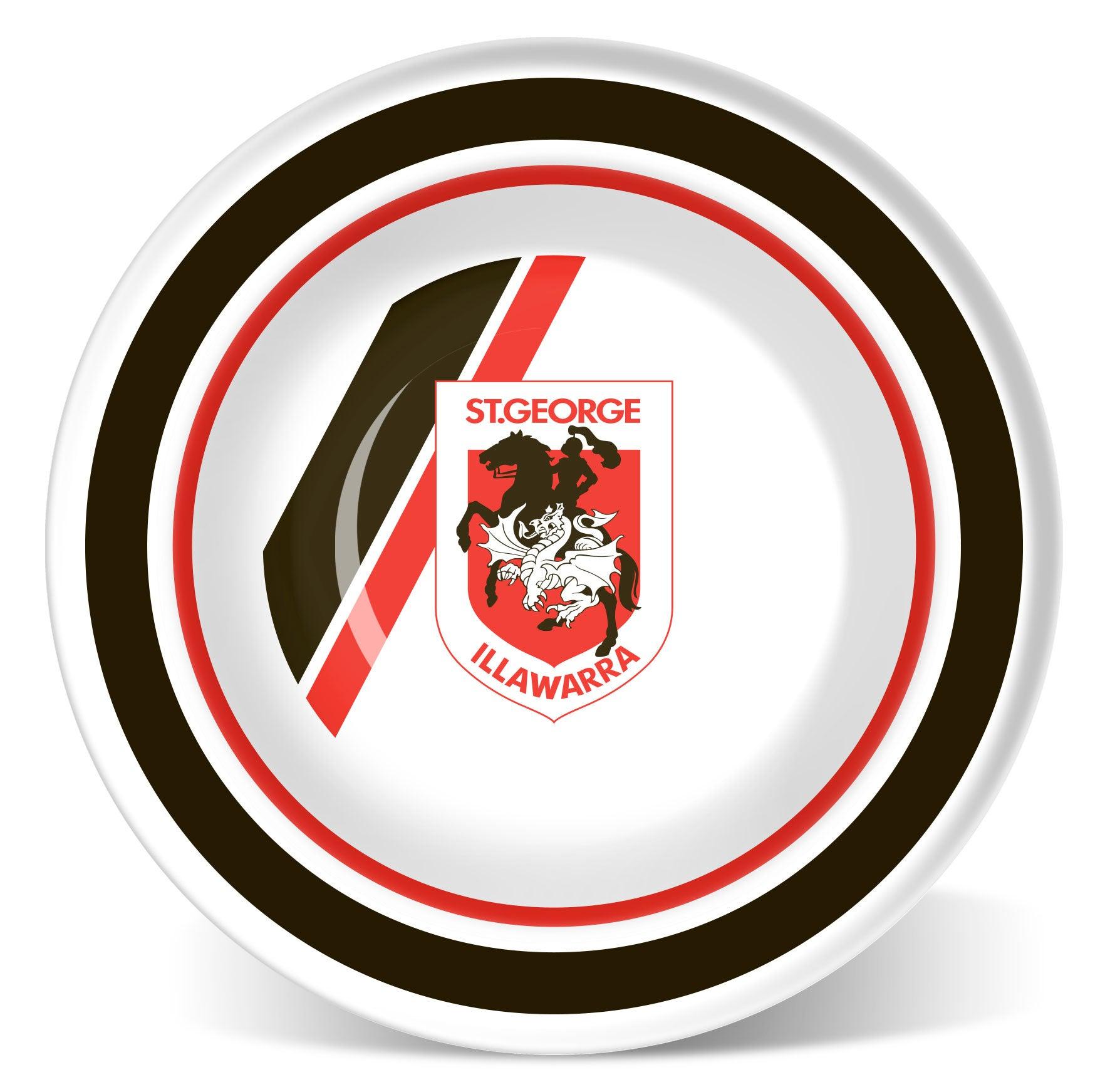4 X St George Dragons NRL Melamine 18cm Bowls