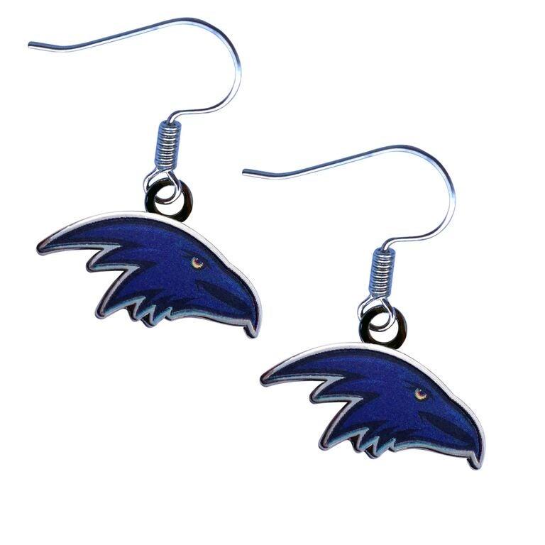 Adelaide Crows AFL Team Logo Earrings Surgical Steel Hook Jewellery