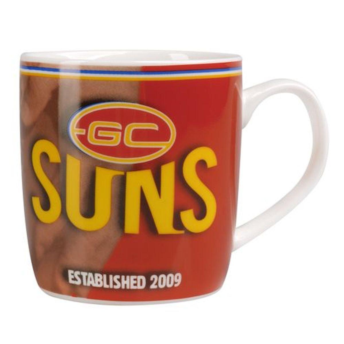 Gold Coast Suns AFL Team Statistics Barrel Coffee Cup Mug