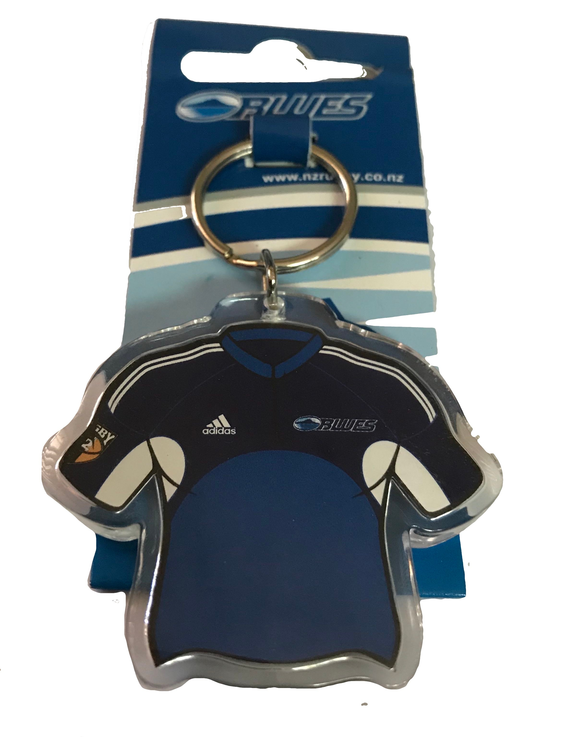 New Zealand Auckland Blues Super Rugby Jersey Shaped Keyring
