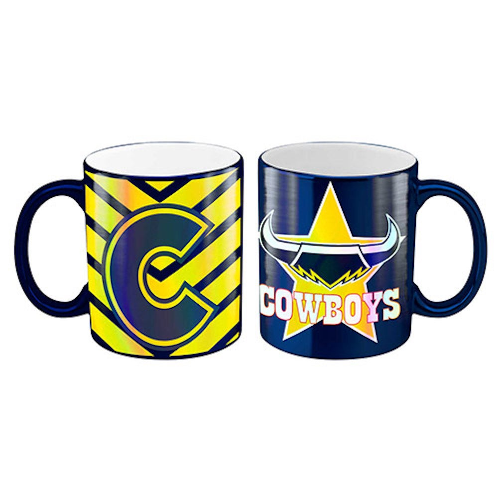 North Queensland Cowboys NRL Blue Metallic Mug Coffee Cup