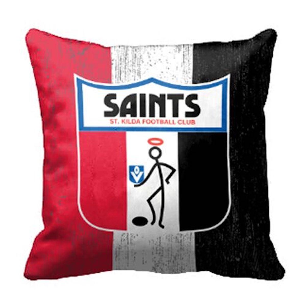 St Kilda Saints AFL Heritage 1st 18 Team Canvas Cushion