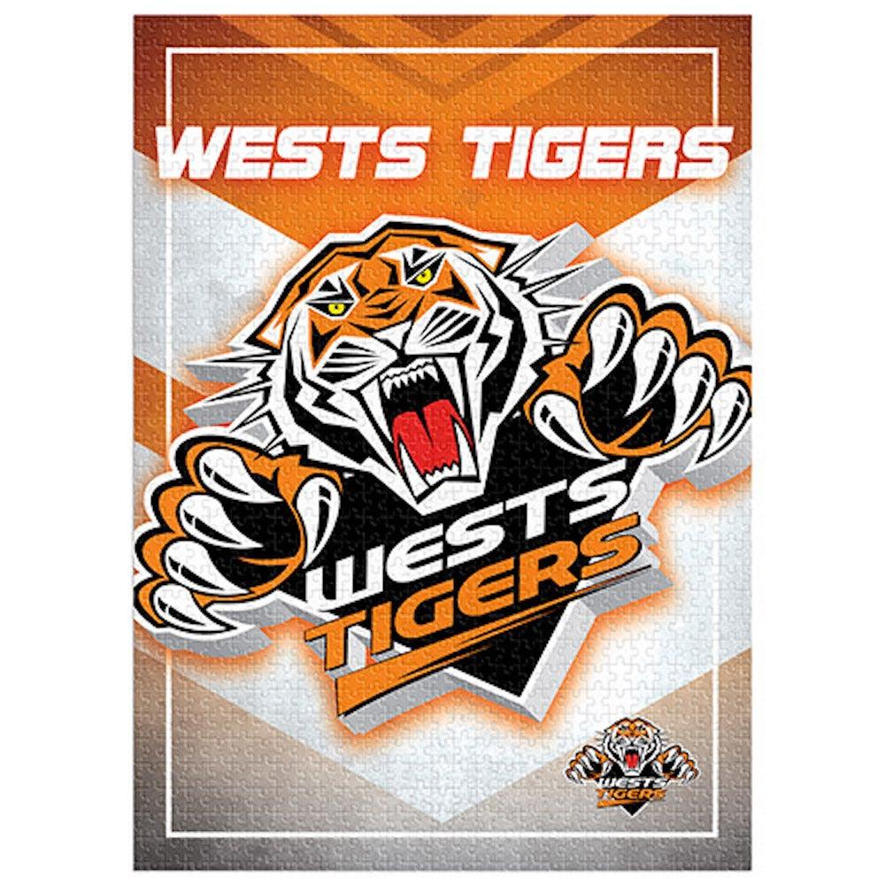 Wests Tigers NRL 1000 Piece Logo Jigsaw Puzzle