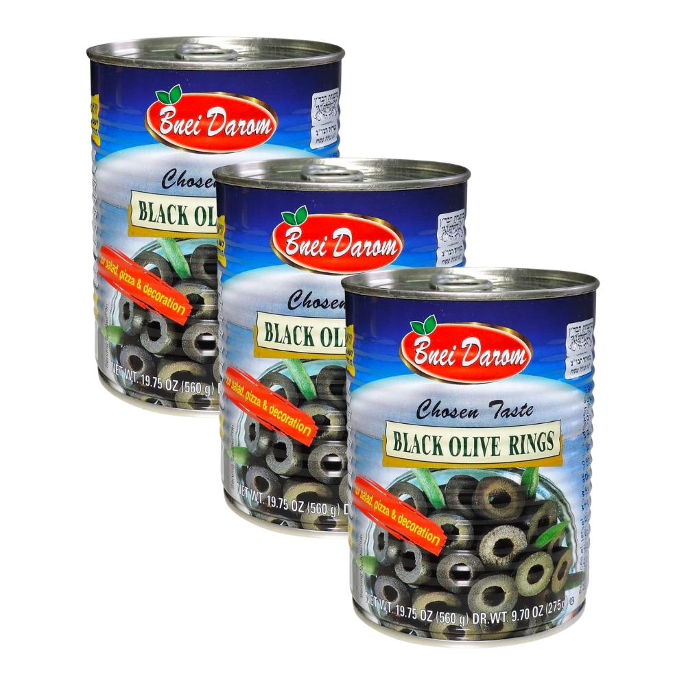 3 x Bnei Darom Black Olive Rings 560G