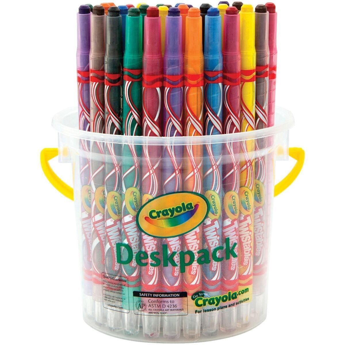 CRAYOLA DESKPACK TWISTABLES CRAYONS 8 Assorted Colours Tub of 32