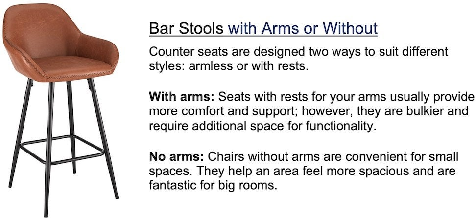 Bar with arms or without