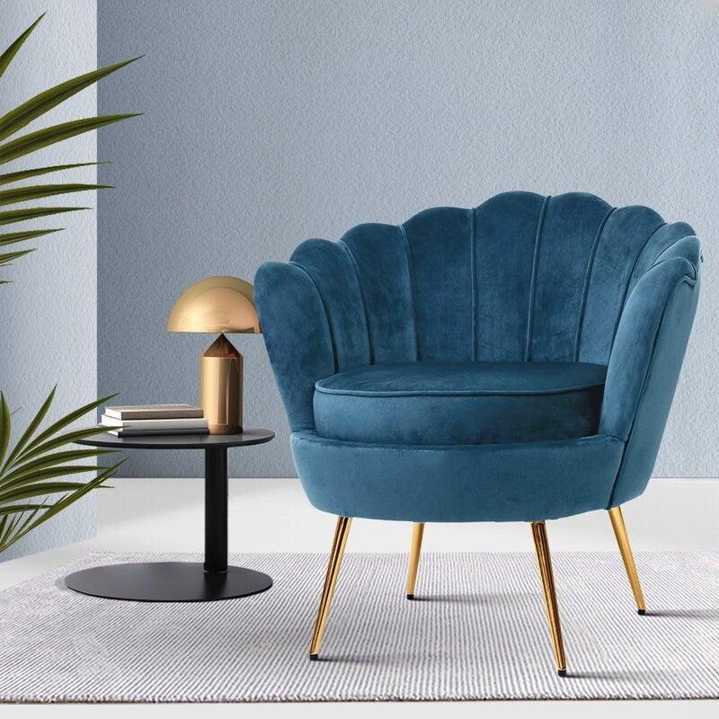 Retro Velvet Accent Chairs