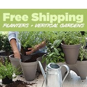 Free Shipping Planters & Vertical Gardens