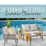 Outdoor Settings Summer Clearance