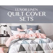 Luxor Linen Quilt Cover Sets