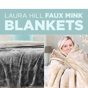 Laura Hill Faux Mink Blankets
