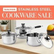 Salter Stainless Steel Cookware Sale
