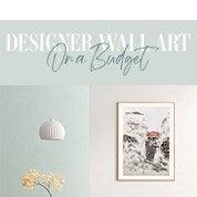 Designer Wall Art On a Budget