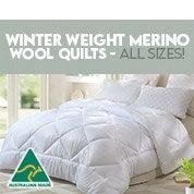 Winter Weight Merino Wool Quilt