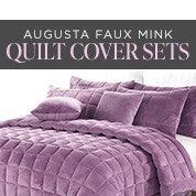 Augusta Faux Mink Quilt Cover Sets