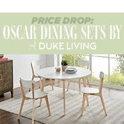 Price Drop: Oscar Dining Sets by DukeLiving