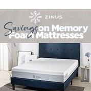 Savings on Memory Foam Mattresses