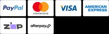 PayPal MasterCard Visa Amex