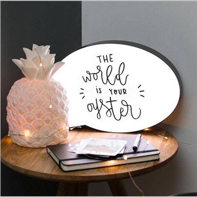 Speech Bubble Light Box Home Decor Night Light   Buy Table & Desk Lamps - 5060359488244